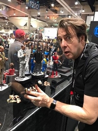 Jonathan Ross pays a visit to Big Chief Studio's stand at Comic Con