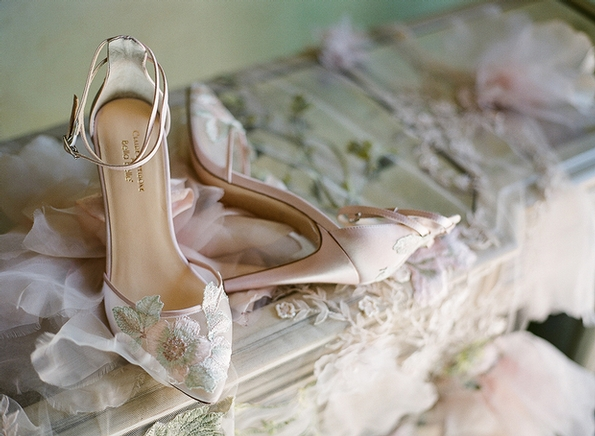Claire Pettibone collaborates with Bella Belle on a limited edition bridal shoe collection
