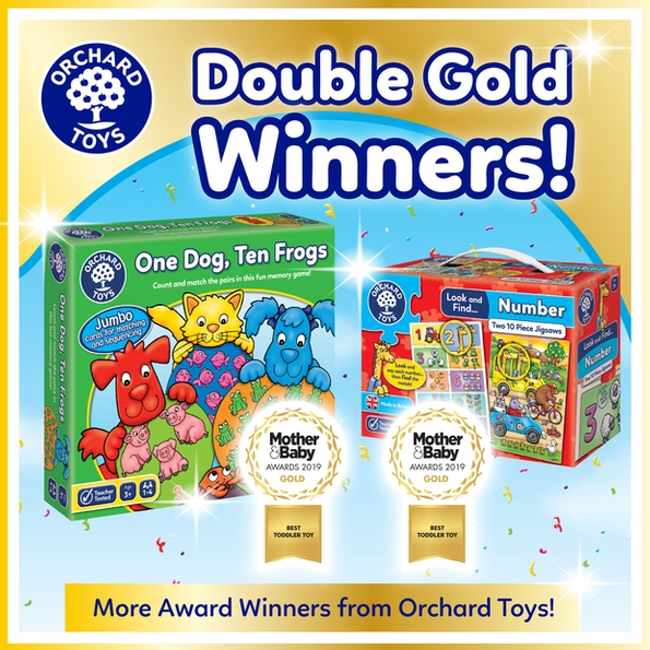Orchard Toys wins double gold in Mother&Baby awards
