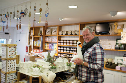 Shopping guru increases sales at Abbotsbury Swannery