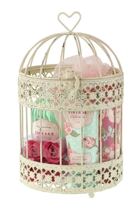 New birdcage of treats by Heathcote & Ivory