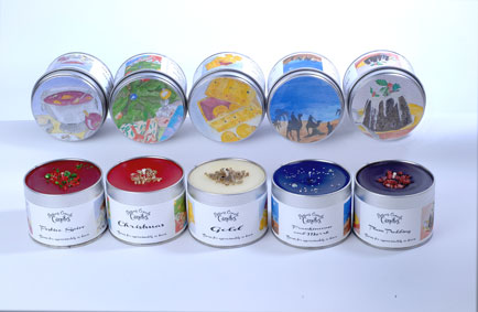 Festive fragrances from Potters Crouch Christmas Candles