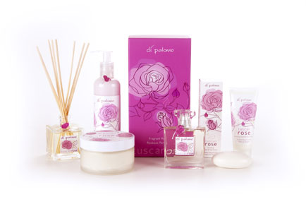 Di Palomo launches Tuscan Rose bath, body and fragrance line