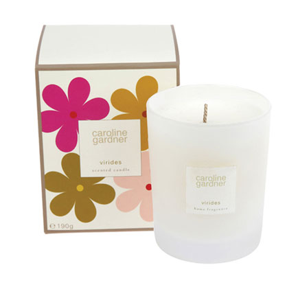 Caroline Gardner launches new range of miniature candles