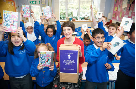 Local school children put pen to paper with the help of Hallmark