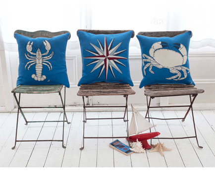 New cushion by Jan Constantine inspired by the sea