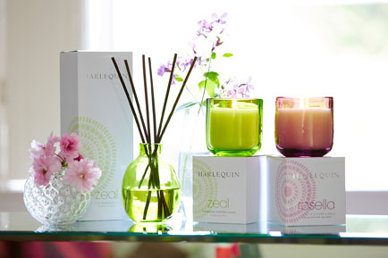 Harlequin teams up with Stoneglow to develop new range of candles and reed diffusers