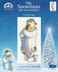 DMC Creative World launches The Snowman and The Snowdog cross-stitch kits