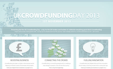 FIRST EVER UK CROWDFUNDING DAY - 1st  November, 2013
