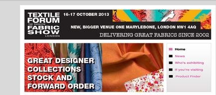 Textile Forum 16th - 17th October, 2013