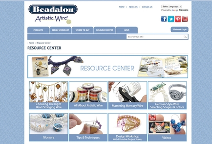 Beadalon launches its resourceful website