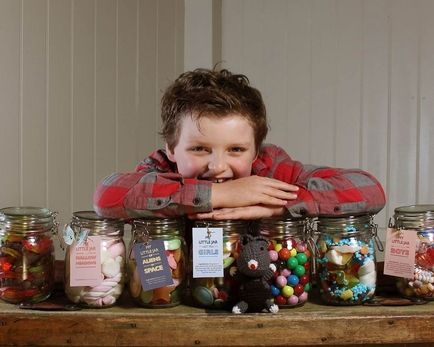 Britain's youngest businessman launches sweet gift range at Spring Fair International