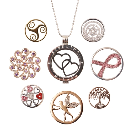 Bedazzled launches new range of Sterlina Milano magnetic locket pendant necklaces with interchangeable coins