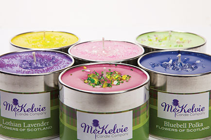 McKelvie Candle Company offers beautiful range of hand-mixed and hand-poured scented candles