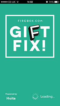 Firebox launches instant gifting Gift Fix! app