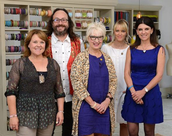Famous faces join Patrick Grant and May Martin for three Celebrity specials of Great British Sewing Bee