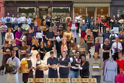 Sir Peter Blake unveils new artwork celebrating nation of shopkeepers