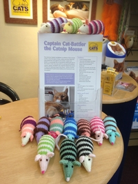 Calling all knitters - toy mice and blankets needed for playful cats!