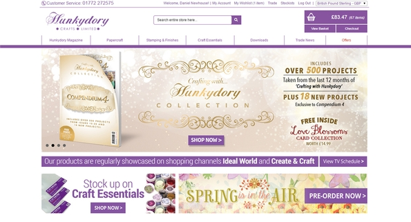 Hunkydory Crafts has a new trade website