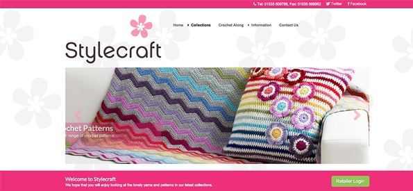 Stylecraft	unveils its new	look	website