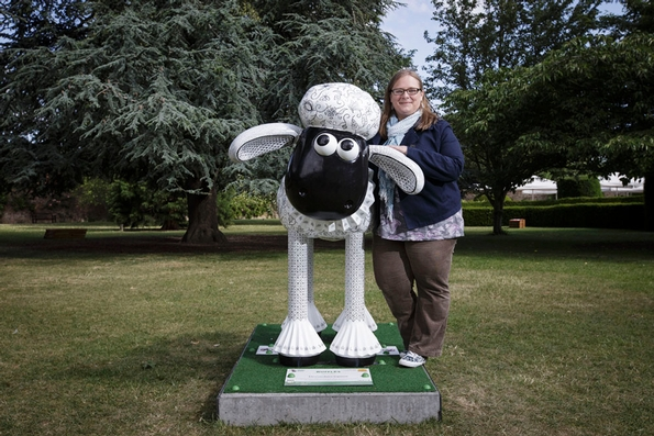 Royal School of Needlework creates costume for Shaun the Sheep charity auction
