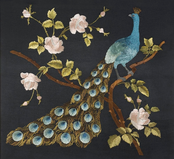 Peacocks & Pomegranates exhibition at the Royal School of Needlework