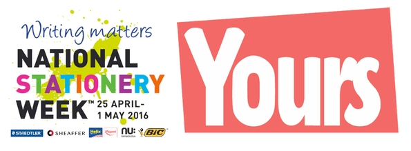 Yours magazine launch competition in conjunction with National Stationery Week to create birthday card for the Queen