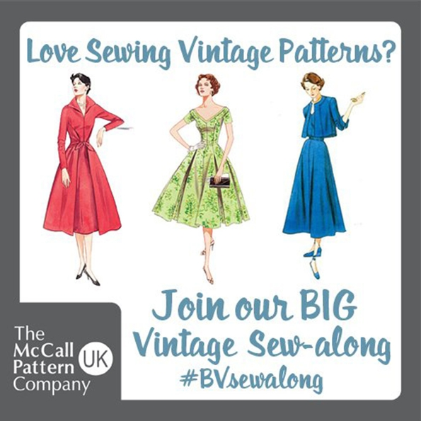 The BIG Vintage Sew-Along – nationwide promotion from McCall's Patterns