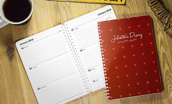 Personalised, date-flexible diaries showcasing at London Stationery Show