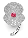 BOUTON supports the Royal British Legion with its jewelled poppy brooch