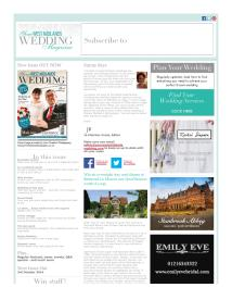 Your West Midlands Wedding magazine - August 2014 newsletter