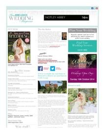 Your Berks, Bucks and Oxon Wedding magazine - September 2014 newsletter