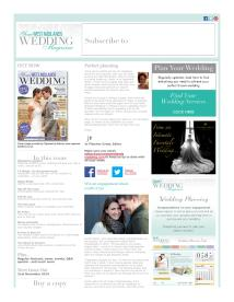 Your West Midlands Wedding magazine - November 2014 newsletter