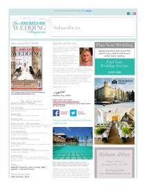 Your Berks, Bucks and Oxon Wedding magazine - December 2015 newsletter