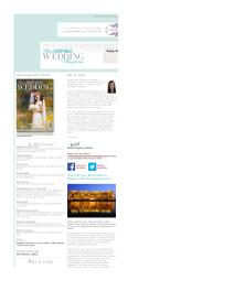 Your South Wales Wedding magazine - January 2016 newsletter