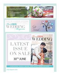 Your London Wedding magazine - July 2016 newsletter