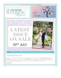 Your West Midlands Wedding magazine - August 2016 newsletter