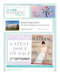Your London Wedding magazine - October 2016 newsletter