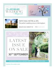 Your West Midlands Wedding magazine - Ocotber 2016 newsletter