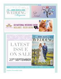 Your Berks, Bucks and Oxon Wedding magazine - November 2016 newsletter