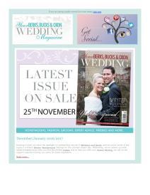 Your Berks, Bucks and Oxon Wedding magazine - December 2016 newsletter