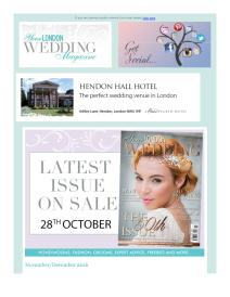 Your London Wedding magazine - December 2016 newsletter