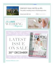 Your London Wedding magazine - January 2017 newsletter