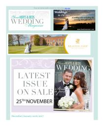 Your Herts and Beds Wedding magazine - January 2017 newsletter
