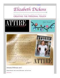 Attire Bridal magazine - January 2017 newsletter