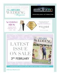 Your Herts and Beds Wedding magazine - February 2017 newsletter