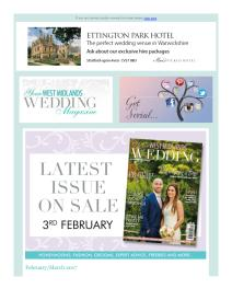Your West Midlands Wedding magazine - March 2017 newsletter