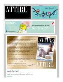 Attire Accessories magazine - April 2017 newsletter