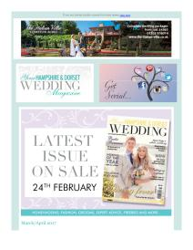 Your Hampshire and Dorset Wedding magazine - April 2017 newsletter