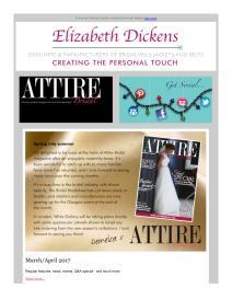 Attire Bridal magazine - April 2017 newsletter